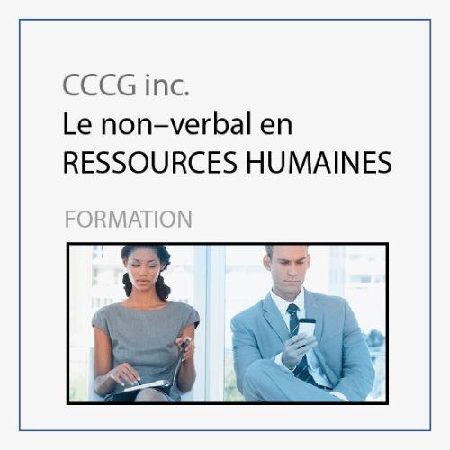 CCCG - Le non verbal en ressources humaines